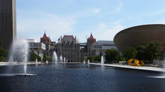 4K UltraHD A Timelapse of the Albany, New York legislature Stock Footage