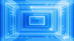 abstract line motion music background LOOP Blue - stock footage