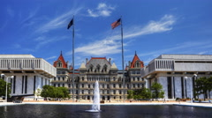 4K UltraHD A Timelapse of the Albany legislature building Stock Footage