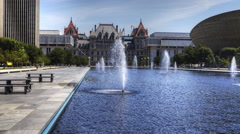 4K UltraHD A Motion controlled timelapse, Albany legislature Stock Footage