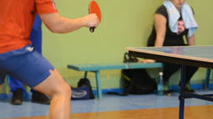 Table tennis player Stock Footage