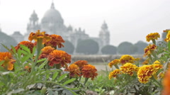 Victoria Memorial, Kolkata , Calcutta, West Bengal, India Stock Footage