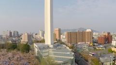 Goryokaku tower - stock footage