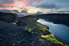 Veidivotn Lake, Highlands of Iceland - stock photo