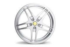 Rim car disc isolated on white background 3d illustration Stock Illustration
