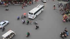 Time lapse of rush hour traffic at the 36 street in Hanoi, Vietnam Stock Footage