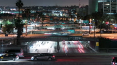 Freeway Busy Traffic 30 Time Lapse Night 4K Stock Footage