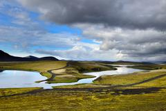 Veidivotn Lake, Highlands of Iceland Stock Photos