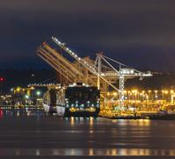 Port, Seattle, Washington, USA Kuvituskuvat