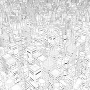 Metropolis in black and white Stock Illustration