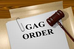Gag Order legal concept - stock illustration