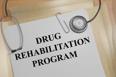 Drug Rehabilitation Program medical concept Stock Illustration