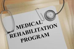 Medical Rehabilitation Program medical concept - stock illustration