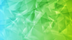 Green blue tech geometric polygonal video animation Stock Footage