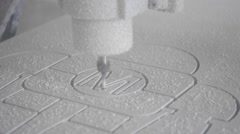 Milling machine carves the form Stock Footage