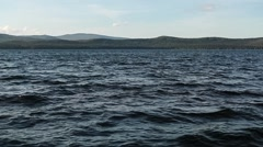 The waters of a mountain lake. Waves Stock Footage