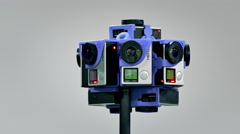 360 Video Camera / Virtual Reality Camera / 3D Video Production - stock footage
