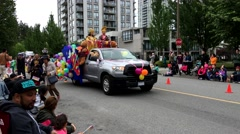 Festival Coquitlam Grand Parade for multicultural with 4k resolution. Stock Footage