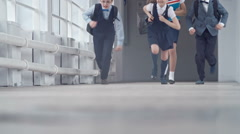 Schoolchildren in a Hurry Stock Footage