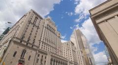 Fairmont Royal York hotel in Toronto, Ontario, Canada. Stock Footage