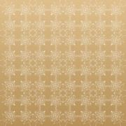 Linear golden grid with circles in nodes. Monochrome texture. Vector Stock Illustration