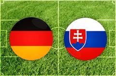 Germany vs Slovakia - stock illustration