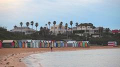 brighton beach houses one person - stock footage