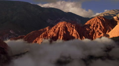 Sunrise on Valle de los Colorados - Purmamarca - Jujuy Stock Footage