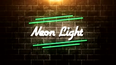 Neon Light - stock after effects