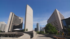 City Hall and walkways in Toronto, Ontario, Canada. Stock Footage
