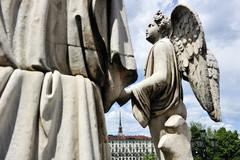 Piazza Vittorio Veneto and Mole Antonelliana, Turin, Piedmont, Italy - stock photo