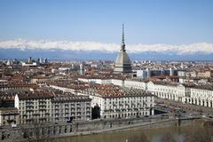 Piazza Vittorio Veneto and Mole Antonelliana, Turin, Piedmont, Italy Stock Photos