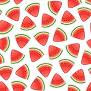 Seamless Background with Watermelon - stock illustration
