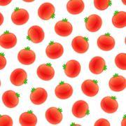Seamless Pattern with Tomato - stock illustration