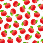 Seamless Pattern with Apples Stock Illustration