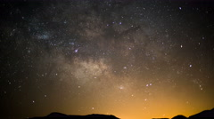 8K Milky Way Aquarids Meteor Shower Canyon 01 Time Lapse Stock Footage