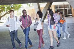 Higher education students - stock photo