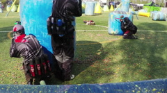 Rallenty Paintball action, Army Paintball Psp , Softair . N. Only Editorial use Stock Footage
