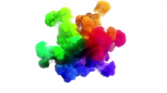"Colored smoke explosion on white ""Spectrum"", variation 2 Stock Footage"