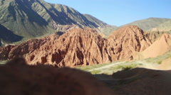 Valle de los Colorados - Purmamarca - Jujuy Stock Footage