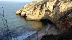 A secluded bay on the Portuguese Alarve Stock Footage