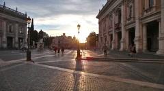 The Campidoglio square Stock Footage