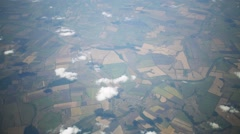 Beautiful aerial view of the earth from an airplane porthole Stock Footage