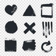 Grungy design elements - stock illustration