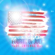 Happy 4th of July Independence Day Stock Illustration