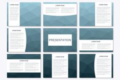 Set of modern business presentation templates in A4 size. Abstract geometrical Stock Illustration