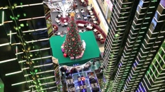 Beautiful decoration for christmas in shopping and recreation center Stock Footage