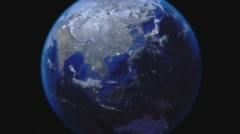 Earth Zoom Out from China Stock Footage