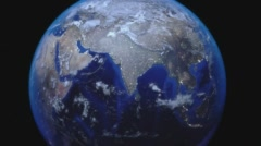 Earth Zoom Out from India Stock Footage