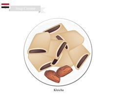 Kleicha or Traditional Iraqi Cookies Filled with Dates Stock Illustration